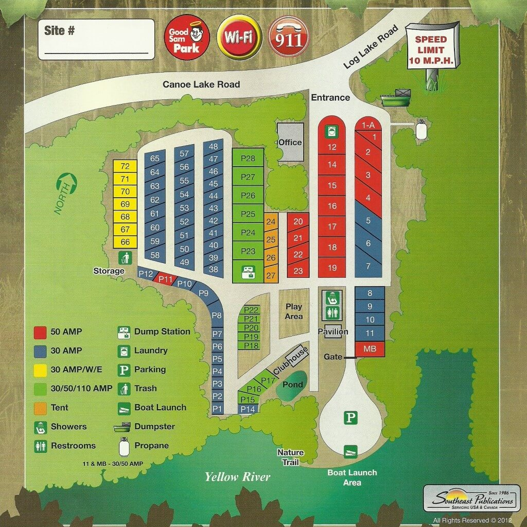 River's Edge RV Campground - Map